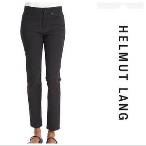 $390 Helmet Lang mid rise skinny ankle jeans black